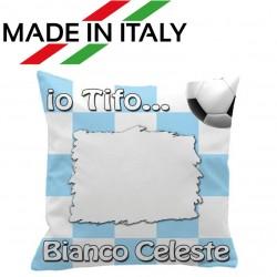Federa CUSCINO SPORT 40x40 cm. Bianco - Celeste