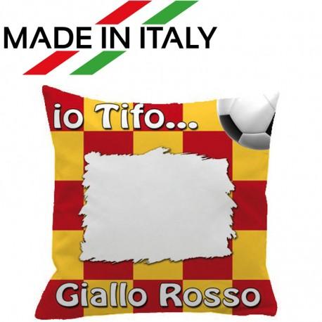 Federa SPORT Giallo - Rosso Full Print 40x40 cm. Poliestere 100%