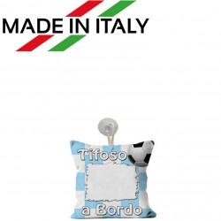 Mini Federa SPORT Bianco - Celeste Full Print 15x15 cm. Poliestere 100%