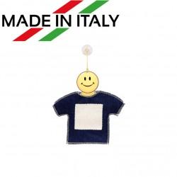 Mini T-Shirt in Jeans/Tela con gruccia Smile