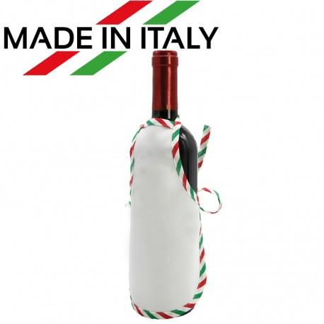 Mini Grembiule Bianco per Bottiglie 22x15 cm.