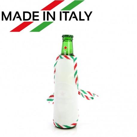 Mini Grembiule Bianco per Bottiglie 16x13 cm.