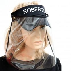 Cappellino Nero con Visiera Protettiva in PVC