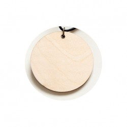 Pendente in legno Sublimatico Ø 8 cm.