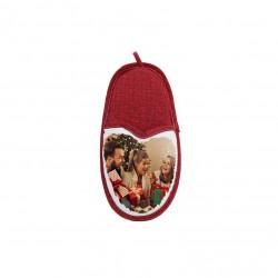 Porta Cellulare Pantofola Bianco/Rosso h. 22 cm.