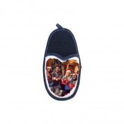 Porta Cellulare Pantofola Bianco/Jeans h. 22 cm.