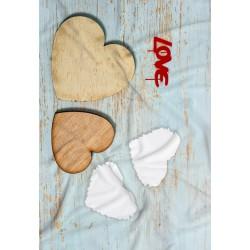 Coperta Love 07 in Pail Prestampato 100x150 cm.