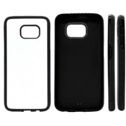 Cover in Silicone Samsung S7 Edge con inserto in alluminio sublimatico