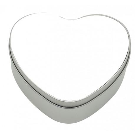 Scatola in Alluminio Forma Cuore con  15x14 cm.