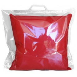 Busta Polipropilene per Cuscino 40x40 con Manico Rigido Confezione 10 pz.