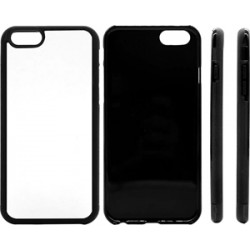 Cover in Silicone  I-Phone 6 Plus con inserto in alluminio sublimatico